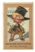 """Petit Garçon En Guenilles. Signée Right """"Faut Pas S'en Faire"""" """"wear Old Clothes And Help The War Loan"""" 1920 Ou 1926 - Right"""