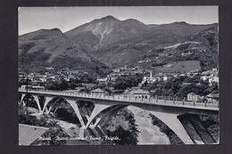 """CPSM ITALIE - MASSA - Nouveau Pont Sur Le Fleuve """" Frigido """" - TB PLAN EDIFICE + TB Vue Ville Derrière - Massa"""