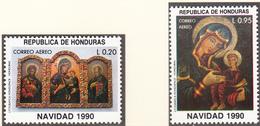HONDURAS - 1990 - Noël - Yvert PA 749E/F  Neufs ** - Honduras