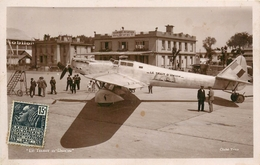 """AVIATION - AVION """"TRAIT D'UNION"""" - DEWOITINE D23 - MONOPLAN - PILOTES; DORET & LE BRIX - TBE. - 1919-1938"""