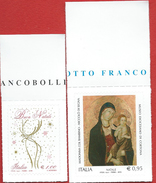 Italia,Italy 2016; Natale Religioso + Natale Laico:Madonna+renna,Virgin Mary+reindeer,serie Completa Di Bordo Superiore. - Natale