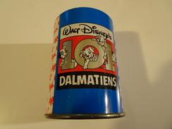 Pot à Crayons En Métal, Walt Disney, 101 Dalmatiens, Hauteur 94 Mm, Diamètre 68 Mm, BON ÉTAT - Other Collections