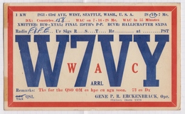 6AI4948 CARTE QSL Radio Amateur SEATTLE WASHINGTON 1947 2 SCANS - Radio Amateur