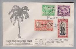 Western Samoa (Samoa) 1945-01-04 FDC Nach Melbourne - Samoa