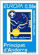 ANDORRA ESPAÑOLA 2007 - EUROPA - BOY SCOUTS - Edifil Nº 346 - Unused Stamps