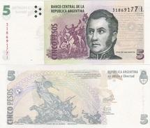 Argentina - 5 Pesos Serie I 2006 + UNC Ukr-OP - Argentina