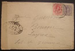 1917 Lettre D'Espagne Pour Layrac Ouverte Par Le Contrôle Postal Militaire, Plusieurs Cachets 462 (avec Correspondance) - Postmark Collection (Covers)