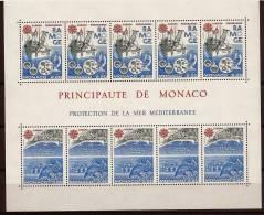 "Monaco Bloc YT 34 "" Europa : Programme RAMOGE "" 1986 Neuf ** - Blokken"