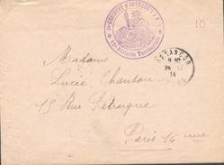 Besançon (Doubs) - Cachet 9 ème Régiment D'Artillerie - 12 ème Batterie Territoriale - Marcophilie (Lettres)