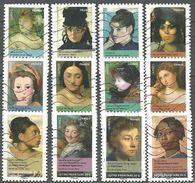 FRANKREICH FRANCIA  FRANCE 2012 YV 674-85 MI 5286-97 Portraits De Femmes Dans La Peinture - Gebraucht