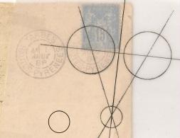 Utilisé 5 Mois Ainsi, RARE DAGUIN SOLO TARBES Hautes Pyrénées Sur Enveloppe Avec  15c SAGE. R/84m Du 1 AOUT 1888. - Poststempel (Briefe)