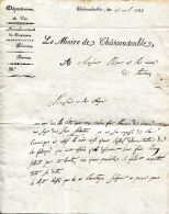 N°53 M -lettre Du Maire De Châteaudouble - Manuscripts