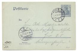 Posen 1903 - Ganzsachen