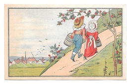 Victorian Trade Card Domestic Sewing Machine Detroit MI Jack And Jill With Pails - Other