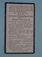 DP Franciscus Polycarpe Van De VELDE ( Van Casteren ) Tremeloo 25 Jan 1882 - 3 Sept 1924 ( Zie Foto´s ) !
