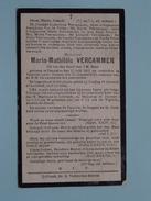 DP Maria-Mathildis VERCAMMEN () Tremeloo 17 Juli 1901 - TAMINES 15 Jan 1920 ( Zie Foto´s ) !