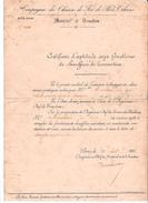 SNCF - DIPLOME  D'APTITUDE Aux Fonctions De Chauffeur De Locomotive - 1896 - Diplomi E Pagelle
