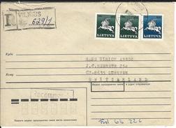 R-Brief Vilnius 8.6.92 Nach Dürnten CH - Lithuania