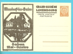 Carte Illustrée  MONDORF LES BAINS - Stamped Stationery