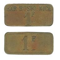 N2852 - Nice: Bar Bozio: 1 Fr - Monétaires / De Nécessité