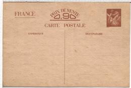 FRANCIA  SEGUNDA GUERRA MUNDIAL TARJETA ENTERO POSTAL DE COMUNICACION INTERZONAL - Enteros Postales