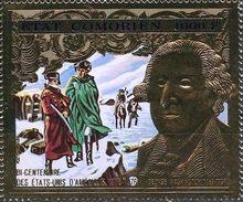 Comores 1976 1 V Gold   MNH  History - US Bicentenary American President George Washington