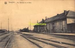 CPA DOISCHE VUE INTERIEURE DE LA GARE  TRAIN   ( CHEMIN DE FER STATIE STATION GARE TRAIN ) - Doische