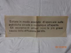 FASCISMO R.S.I.  MANIFESTO ORIGINALE PROPAGANDA 1944 - Manifesti