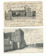 """2 CP Anciennes ..... SELLES Sur CHER (loir & Cher)  """" L'hôpital Et Chateau Gaillard""""  2 Précurseurs à Voir............. - France"""