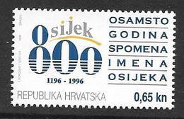 Croatia Hrvatska: 1996 Obligatory Tax 800th Anniversary Of Osijek MNH - Kroatien
