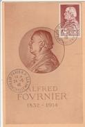 Alfred Fournier 1946 - Carte Max Paris RP Affranchissements - Médecine Santé - Maximumkaarten