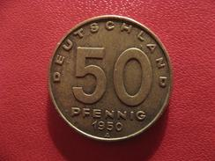 Allemagne République Démocratique - 50 Pfennig 1950 A 2738 - [ 6] 1949-1990 : GDR - German Dem. Rep.