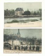 2 CP Anciennes (coloriées) De SELLES Sur CHER (loir & Cher)..le Chateau,l'hôtel De Ville ..(animée)...... à Voir... - France