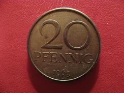 Allemagne République Démocratique - 20 Pfennig 1969 A 2788 - [ 6] 1949-1990 : GDR - German Dem. Rep.