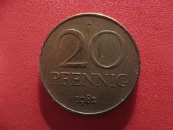 Allemagne République Démocratique - 20 Pfennig 1982 A 2790 - [ 6] 1949-1990 : GDR - German Dem. Rep.