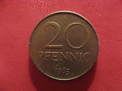 Allemagne République Démocratique - 20 Pfennig 1983 A 2816 - [ 6] 1949-1990 : GDR - German Dem. Rep.