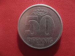 Allemagne République Démocratique - 50 Pfennig 1958 A 2856 - [ 6] 1949-1990 : GDR - German Dem. Rep.