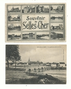 2 CP Anciennes  De SELLES Sur CHER (loir & Cher)   Souvenir  Et Vue Générale.......à Voir. - France