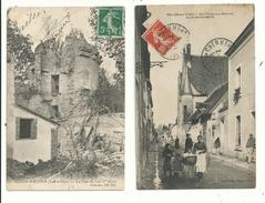 2 CP Anciennes  De SELLES Sur CHER (loir & Cher) Rue Porte Aux Renards (animée) La Tour Du Coq (1905).......à Voir. - France