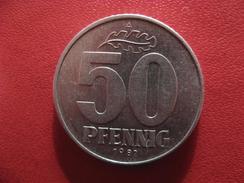 Allemagne République Démocratique - 50 Pfennig 1982 A 2906 - [ 6] 1949-1990 : GDR - German Dem. Rep.