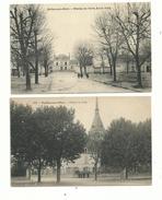 2 CP Anciennes  De SELLES Sur CHER (loir & Cher) Champ De Foire école  Filles...et L'hôtel De Ville (animées)....à Voir. - Unclassified