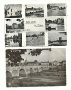 2 CP Anciennes (semi Modernes Photo)  De SELLES Sur CHER (loir & Cher) Multivues Et Vue Générale......à Voir. - France