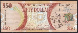 Guyana 50 Dollar 2016 Pnew UNC - Guyana