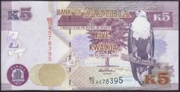 Zambia 5 Kwacha 2012 P50 UNC - Zambie