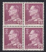 DANIMARCA Danemark Denmark Danmark - 1963 -  Quartina Di Yvert 445, Violetto, 95 O., Nuovi E Perfetti - MNH - Denmark