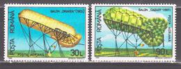 Romania 1993 Rumänien Mi 4863-4864 Airships **/MNH - Luchtballons