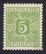DANIMARCA Danemark Denmark Danmark - 1930 -  Segnatasse Yvert 22 - 5 øre, Verde-giallo, Nuovo Con Linguella - Port Dû (Taxe)