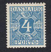 DANIMARCA Danemark Denmark Danmark - 1925 -  Segnatasse Yvert 10 - 4 øre, Azzurro, Nuovo Senza Traccia Di Linguella - Port Dû (Taxe)