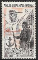 French Equatorial Africa Scott # C43 Used Fr. African Troops, 1957 - A.E.F. (1936-1958)