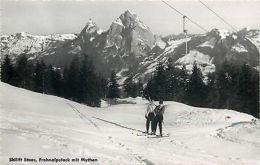 Switzerland Suisse Skilift Stoos Frohnalpstock Mit Mythen - Cartes Postales